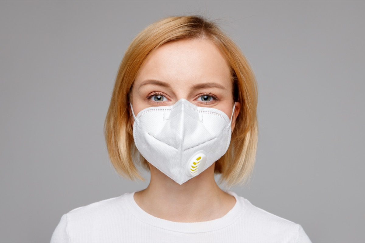 woman n95 face mask